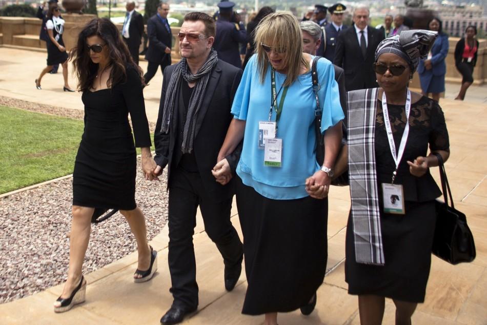 Bono south africa Mandela