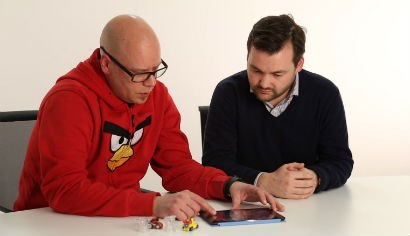 Rovio head og gaming Jami Laes shows off Angry Birds Go