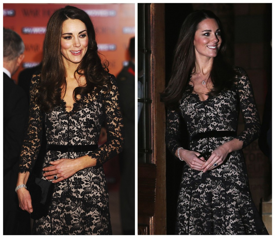 Kate wore the same dress in January last year at War Horse premiere. (Reuters)