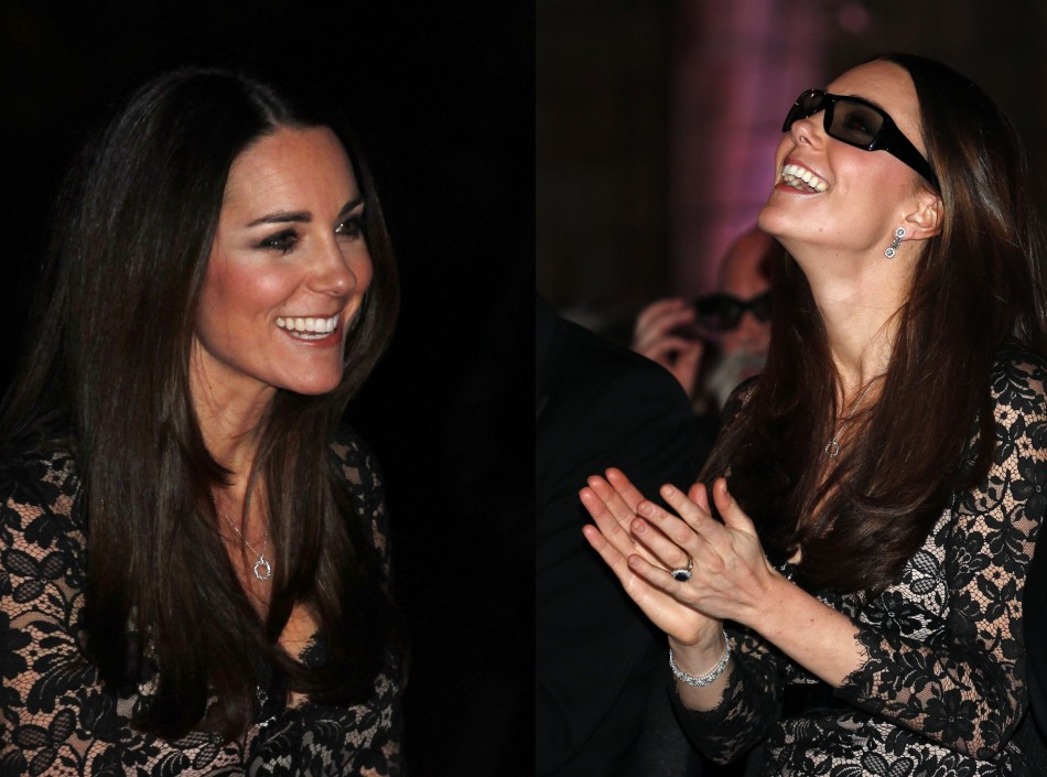 Kate wore diamond jewellery and was all smile during the show. (Reuters)