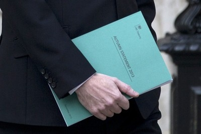 George Osborne with autumn statement