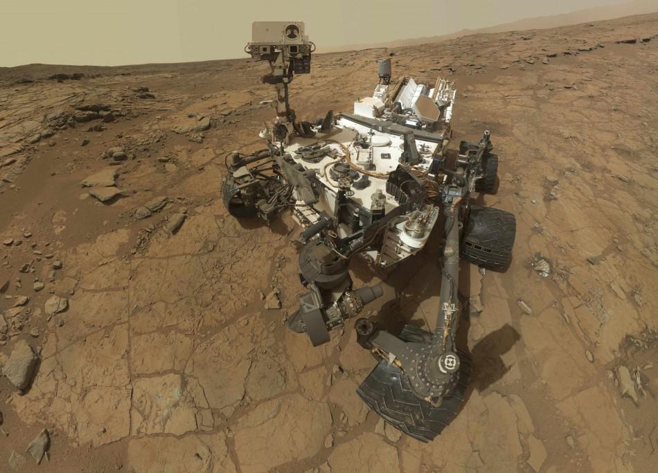NASA Handout Image of the Curiosity Rover on Mars