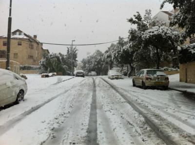 Jerusalem Snowfall 1