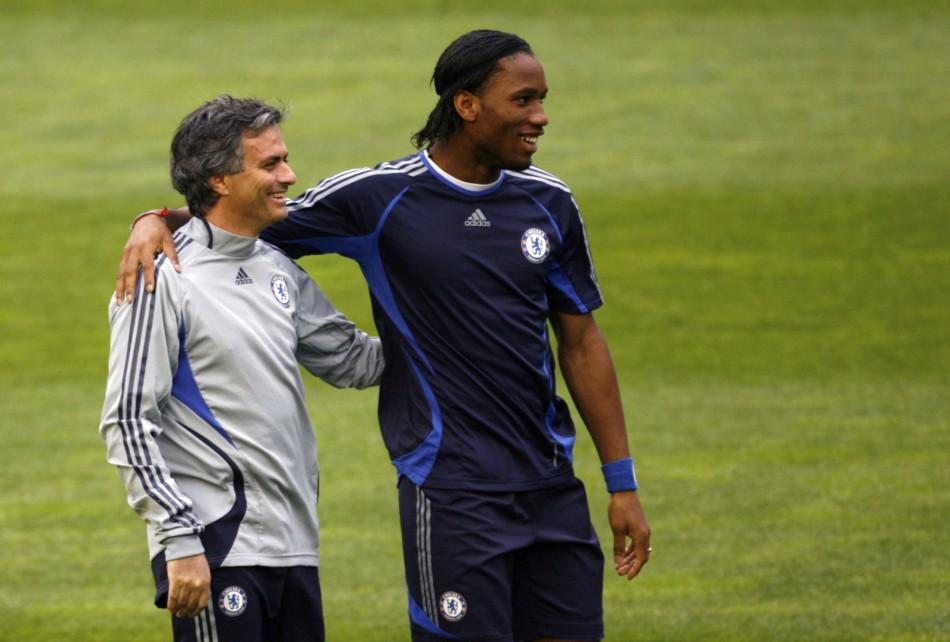 Drogba and Mourinho