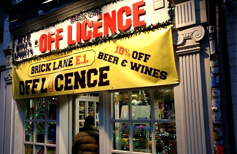 The Shariah Project wants shops like this off license in Brick Lane to stop selling alcohol