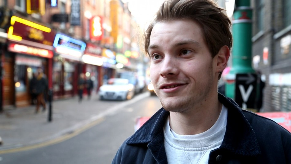 Student George says alcohol helps give Brick Lane its buzz