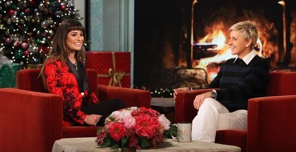 Lea Michelle with Ellen DeGeneres