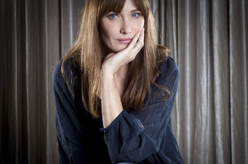Carla Bruni-Sarkozy poses for a portrait as she promotes her new album