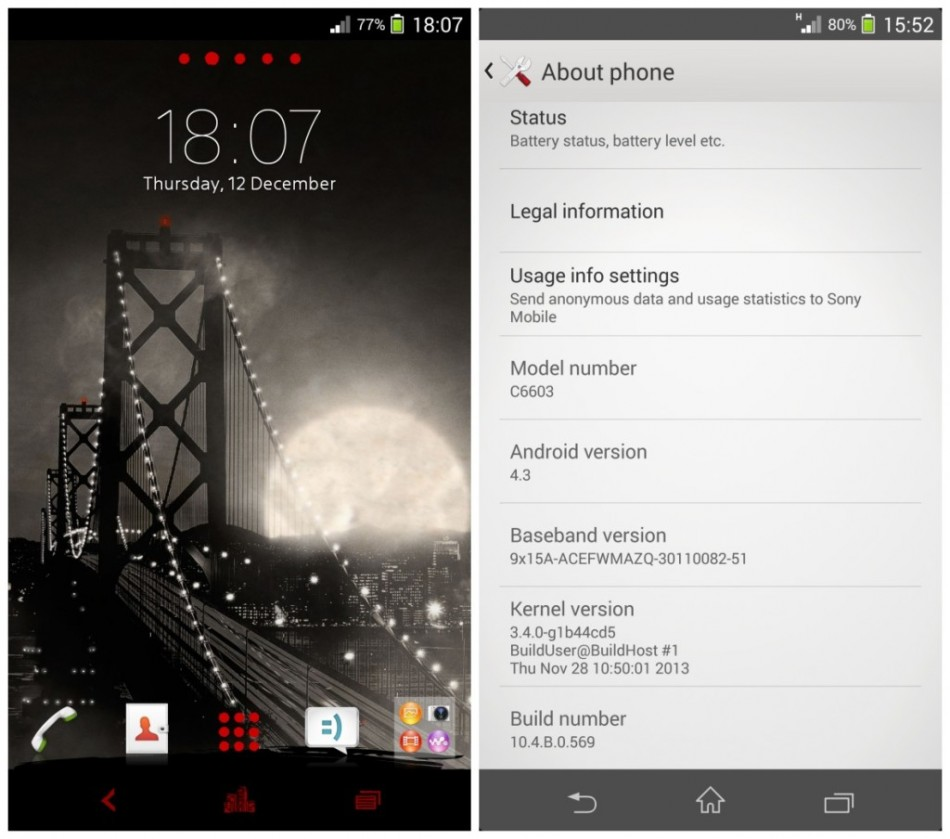 Sony Xperia Z and ZL Get Android 4.3 10.4.B.0.569 Leaked Official Firmware [Manually Install]