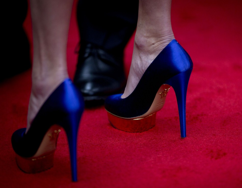 The heels up Julia's glamour quotient. (Reuters)