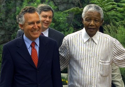 Peter Hain with Nelson Mandela