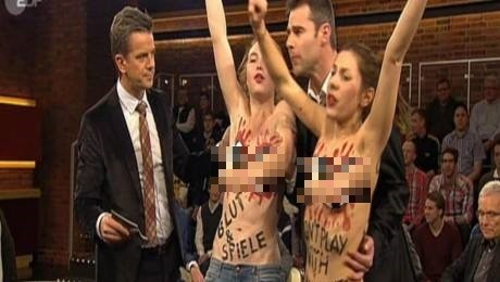 Two young Femen protesters