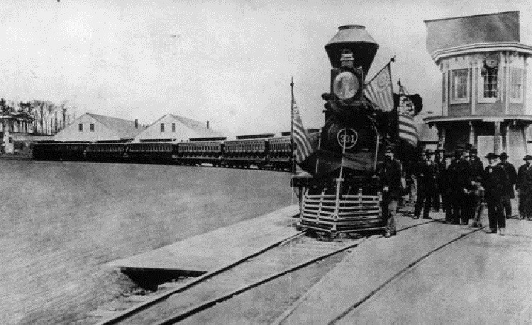 Abraham Lincoln's funeral train became a focal point for a nation's grief, with around 7 million people viewing his coffin
