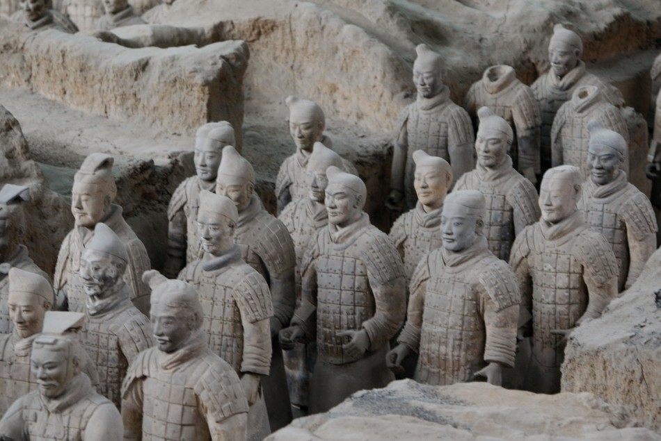 An entire army was created from terracotta to go with Qin Shi Huang into the afterlife.