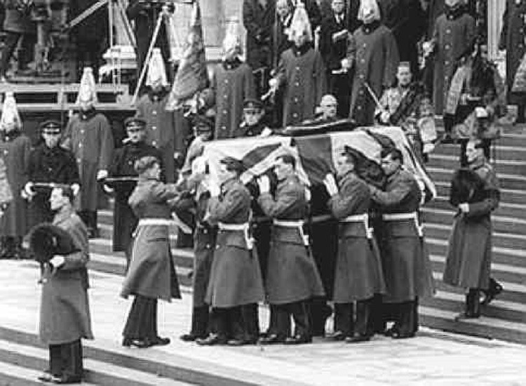 The funeral of Churchill