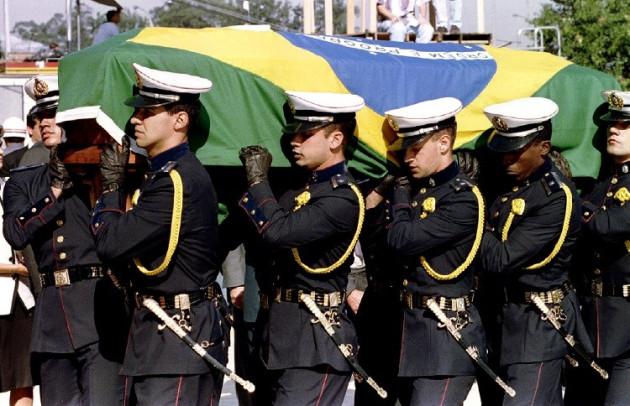 Coffin of Aryton Senna Formula 1 star