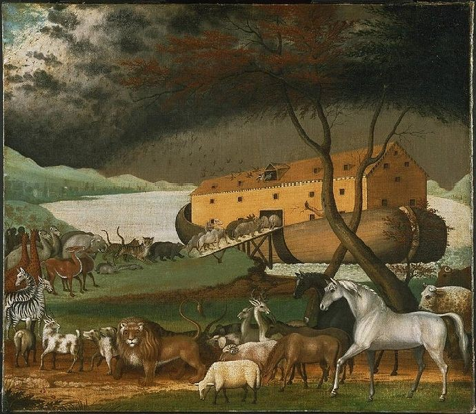 Noah's Ark (1846), a traditional image by the American folk painter Edward Hicks. (Photo: Wikipedia).