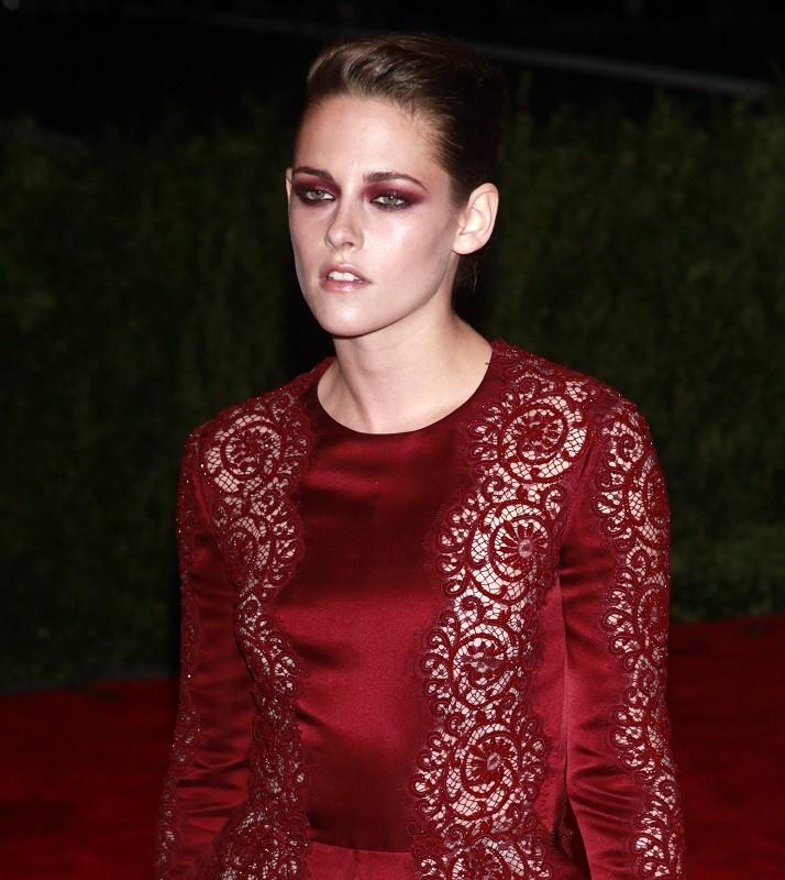 Actress Kristen Stewart at the Metropolitan Museum of Art Costume Institute Benefit.