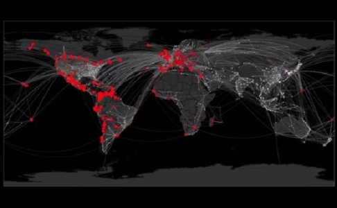 Video showing virus spread