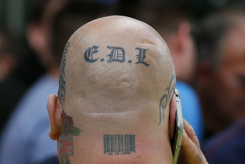 Thirty two men involved in English Defence League violence in Walsall sentenced at Wolverhamption Crown Court PIC: Reuters