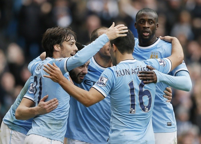 Manchester City Yaya Toure David Silva
