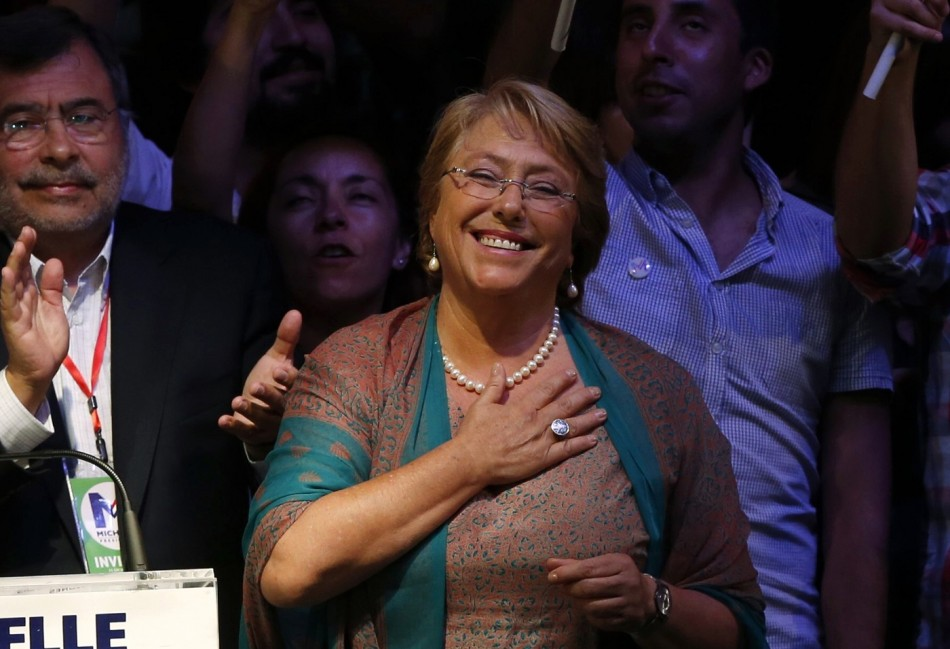 Chile's president Michelle Bachelet