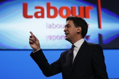 Ed Miliband addressing Labour conference