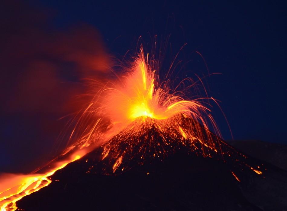 Europe's most active volcano, Mount Etna, erupts - video