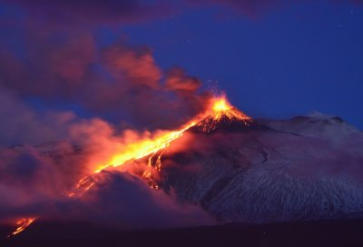 Etna erupts