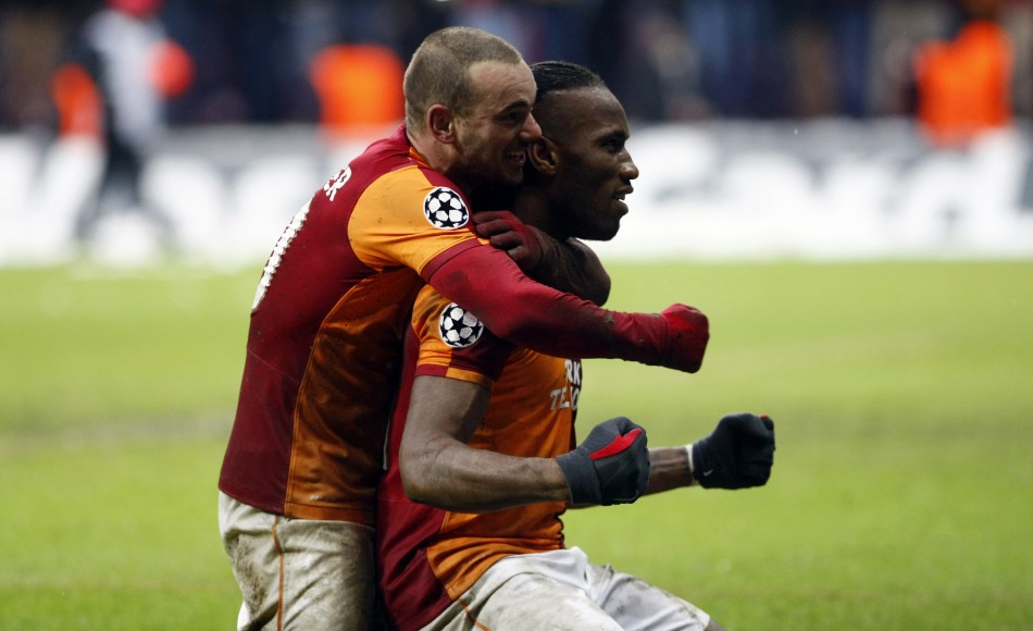 Didier Drogba and Wesley Snejder