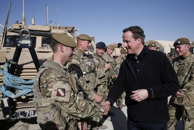 David Cameron meets troops in Afghanistan