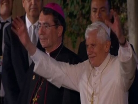 Pope Benedict Wears a Mariachi Hat in Mexico