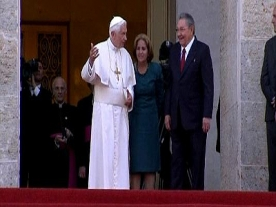 Pope Benedict Holds Talks with Cuban President