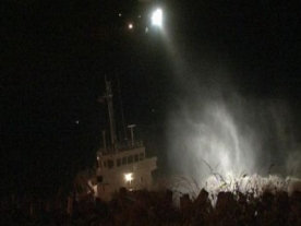 Dramatic Rescue as Cargo Ship Hits Rock in Wales