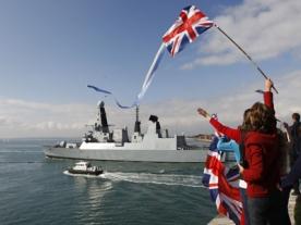 New Type 45 British Destroyer Heads to Falklands Islands