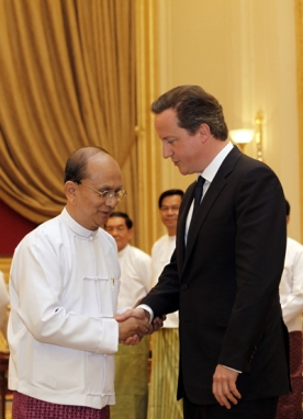 David Cameron arrives in Burma for historic trip