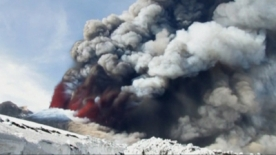 Dramatic Scenes as Mount Etna Spews Lava and Ash