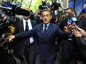 Sarkozy Confident of Strong Fight in Second Round of Elections