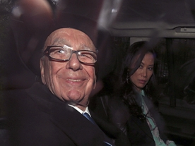 Rupert Murdoch at second day of ethics committee inquiry