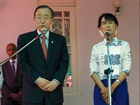 Historic Visit for UN Chief and Aung Suu Ki
