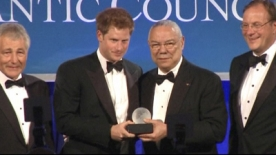 Prince Harry receives a Humanitarian Award in the US
