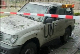 UN Monitors safe after vehicles bombed in Syria