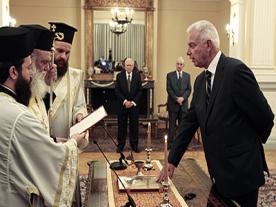 Greek Interim Prime Minister Sworn In