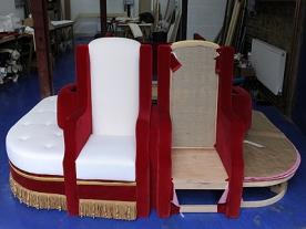 Throne prepared for Queen's Diamond Jubilee