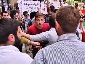 Gay Pride fist fight in Georgia