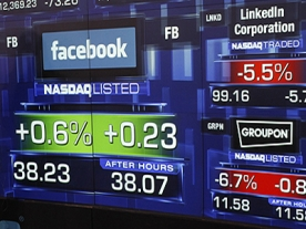 Facebook shares fall by 11% since Friday launch
