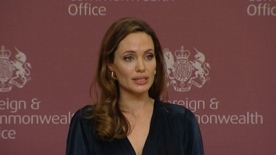 Angelina Jolie and William Hague against sexual violence in war zones