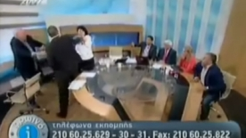 Greek Neo-Nazi attacks two women on Live TV