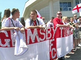 England fans prepare for first Euro 2012 match