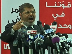 Mursi says foul play in Egypt election will trigger a 'revolution'